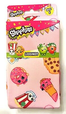 Shopkins Character Nation Leggings Girls Size 6