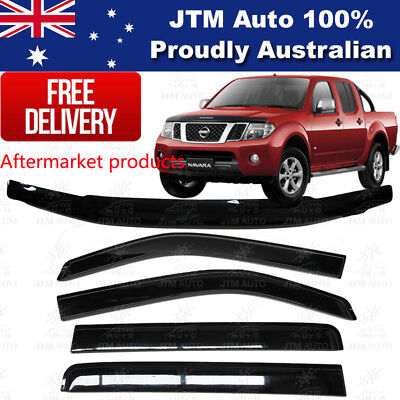 Bonnet Protector and Weather Shields Suits Nissan Navara D40 2005-2010 Spanish
