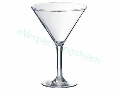 Mehrwegglas Martini Cocktail Glas 280ml luxus stabil BBQ Yacht Beachparty Event