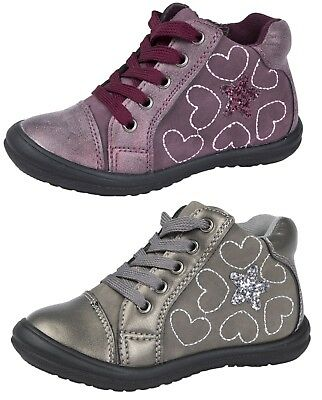Girls Glitter Ankle Boots Toddler Hi Tops Party Shoes Warm Winter Lace Up Size