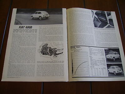 1961 Fiat 600D  ***original Article / Specifications***