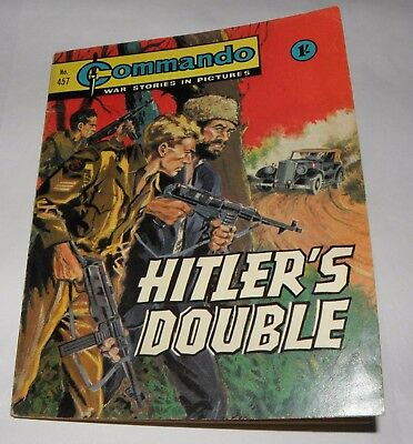 *Commando - War Stories In Pictures- Hitlers Double- No'457, 1970 1'-  PB