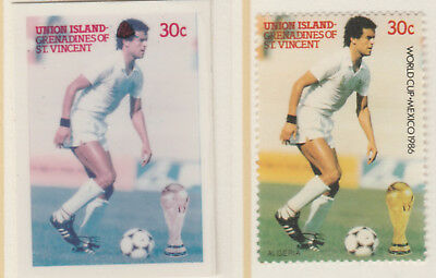 St Vincent Union Island 5524 - 1986 WORLD CUP FOOTBALL 30c CROMALIN PROOF