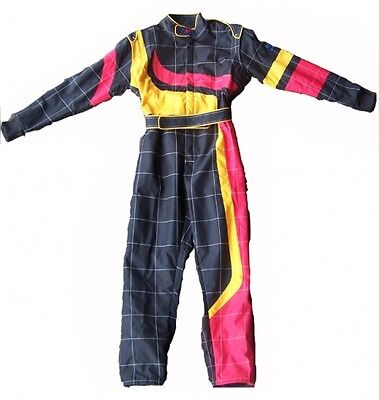 Karting race suit ADULT LARGE size  BLACK/YELLOW/RED