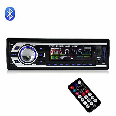 Auto Car Stereo MP3 Player In-Dash FM Radio Aux Input Receiver SD USB WMA 8027BT