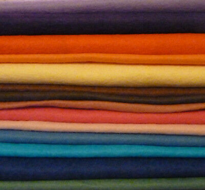 "100% Wool Felt Squares 11"" /29Cms - Mix Of Colours # Craft/card Making"