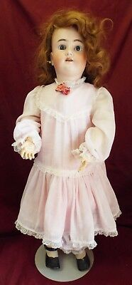 "Old Antique LARGE 30"" HANDWERCK SIMON & HALBIG German DOLL Bisque Head Comp Body"