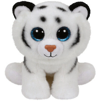 TY Classic Plush - TUNDRA the White Tiger (9.5 inch) - MWMTs Stuffed Animal Toy
