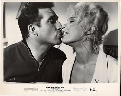 "Elke Sommer-Original Photo-""love The Italian Way""-Ugo Tognazzi-Kissing"