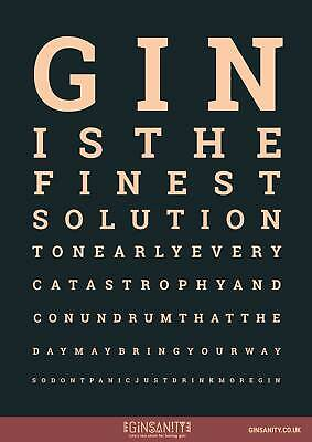 A3 Poster Ginsanity The 60 By 60 Gins Challenge