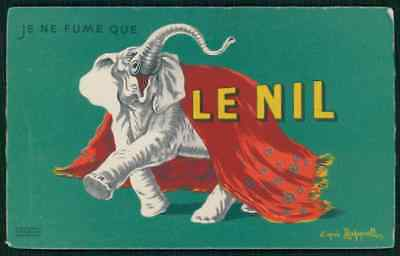 sg Cappiello Art Deco LE NIL Smoking paper advertising original c1920s postcard
