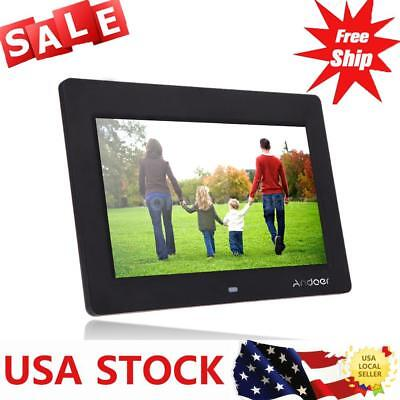"10""HD LCD Digital Photo Frame Picture Alarm Clock MP4 Movie Film Player BOOK USA"