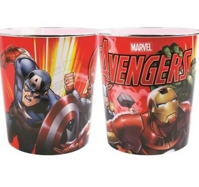 Kids Bedroom Bin Marvel Avengers Plastic Waste Bin Childrens Girls Boys Hulk