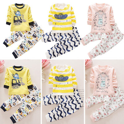 Winter Baby Clothes Sets For Girls Boys Cotton Long Sleeve Pant Kids Underwear