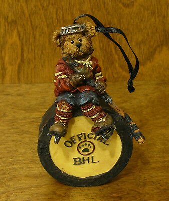 Boyds Resin Ornament #25718 MARIO...HAT TRICK,  NEW From Retail Store, HOCKEY