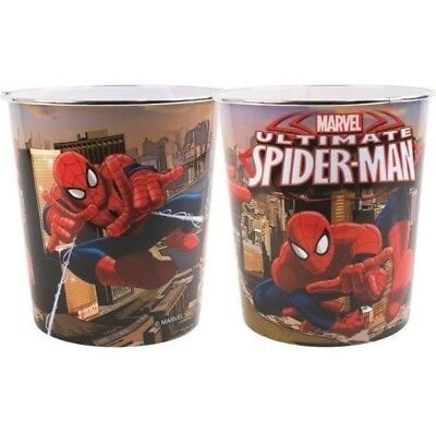 Kids Bedroom Bin Marvel Ultimate Spiderman Plastic Waste Bin Childrens Girl Boys