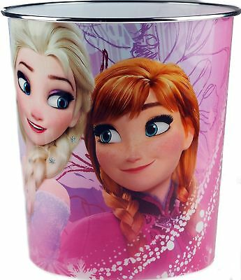 Kids Bedroom Bin Plastic Waste Bin Disney Frozen Elsa Anna Childrens Girls Boys