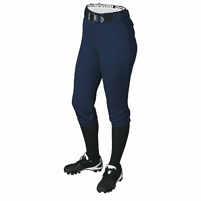 DeMarini Girl's Belted Fastpitch Softball Pant - Navy - Large