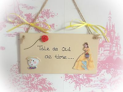 Beauty And The Beast Princess Belle Themed Quote Sign Plaque Picture Merchandise