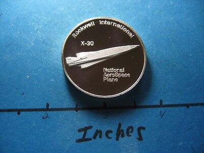 X-30 Spaceliner Space Plane Rockwell Aerospace Plane Rare 999 Silver Coin Cool