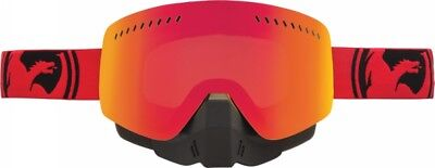 Dragon Nfxs Snow Goggle Red/black Split W/red Ion Lens (722-1904)
