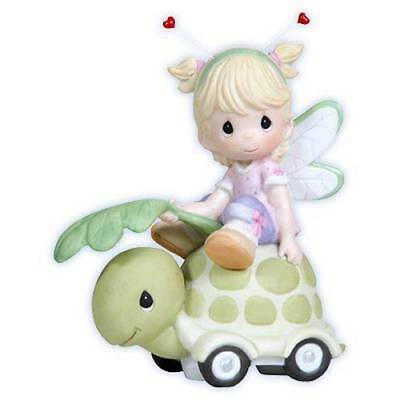 Precious Moments Girl Bug on Turtle Come Along for Ride 114036 Retired