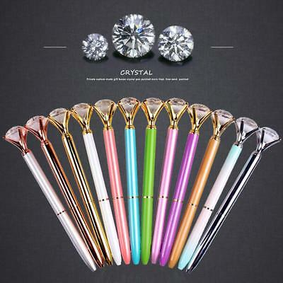 1 pc Crystal Style Ballpoint Pen Metal Glass Diamond Fashion Concert For Girls