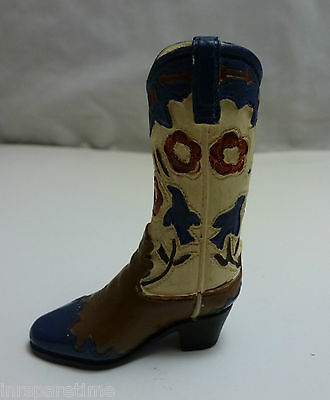Womens Western Boot Collectible Shoe Figurine