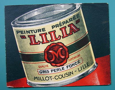 INK BLOTTER Advertisement: 1955 Millot-Cousin Lilia Paints at Lille France