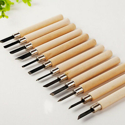12Pcs Wood Carving Hand Chisel Woodworking Tool Set Woodworkers Gouges New