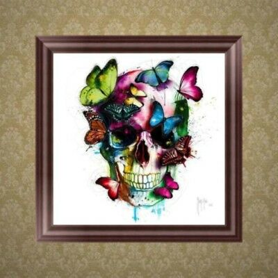 DIY 5D Diamond Embroidery Painting Skull Butterfly Cross Stitch Home Decor