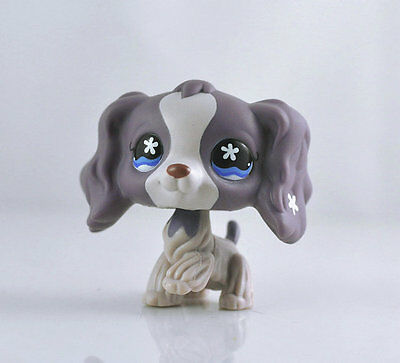 Littlest Pet Brown and White Great Spaniel Dog Child Girl Figure Toy Cute LPS997
