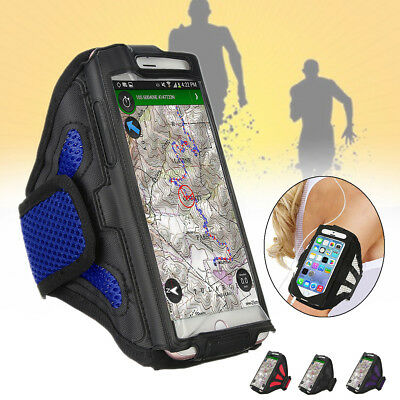 """Sport Armband Case Cover Holder Gym Running Jogging Arm Band For 5.5"""" Cellphone"""