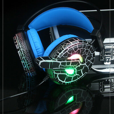 Professional Gaming Headset LED Light Earphone Headphone with Mic For PC Gamer
