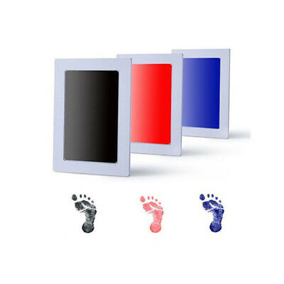 Baby Keepsake Book Boy Footprint Handprint Inkless Pad photo memory  Little