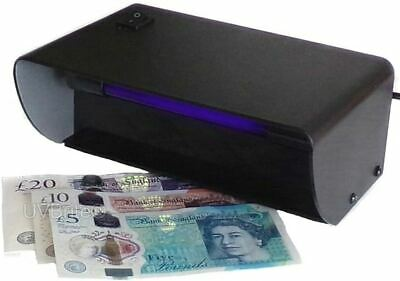 2018 UV Money Checker Forged Polymer Bank Note Detector Ultraviolet Blacklight