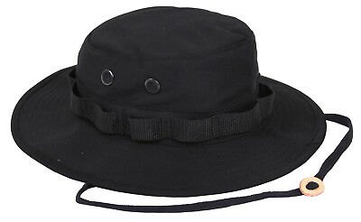Black Boonie Hat Military Style Jungle Sun Hat Rothco 5803