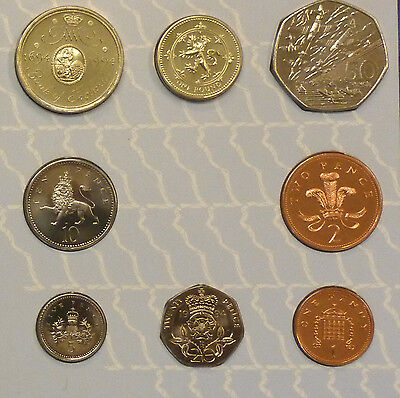 1994 Uncirculated UK Year set BU 8-coin Royal Mint pack incl D-Day 50p & BoE £2