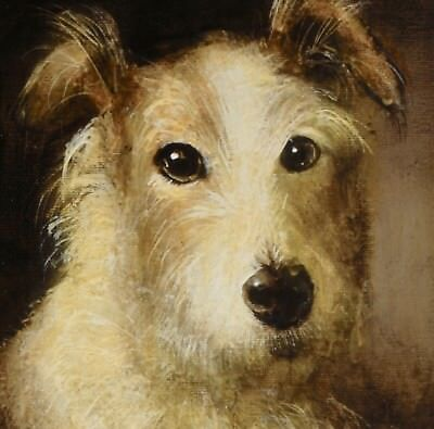 COMMISSION Smaller DOG PORTAIT : Oil painting of a pet canine by David Andrews