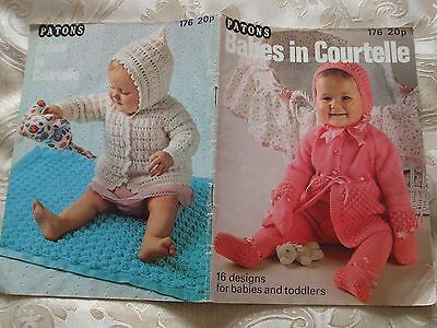 Vintage Knitting & Crochet Pattern Book BABY CLOTHES. Dresses,Tops etc