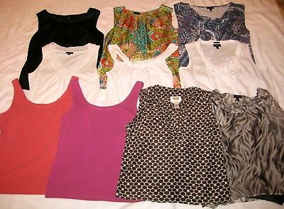 HUGE LOT!!~~10 Womens Sleeveless Shells~Tanks~Tops~TALBOTS~Sz S~4~FREE SHIPPING
