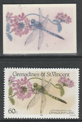 St Vincent Grenadines 5539 - 1986 DRAGONFLIES 60c CROMALIN PROOF