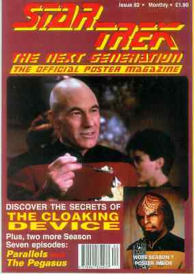 Star Trek Next Generation Official Poster Magazine # 82 (UK, 1995)