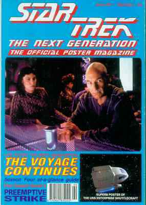 Star Trek Next Generation Official Poster Magazine # 90 (UK, 1995)