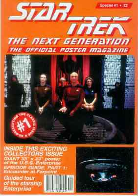 Star Trek Next Generation Official Poster Magazine Special # 1 (UK, 1995)
