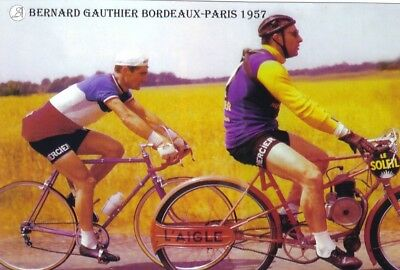 CYCLISME repro PHOTO cycliste BERNARD GAUTHIER  BORDEAUX PARIS 1957