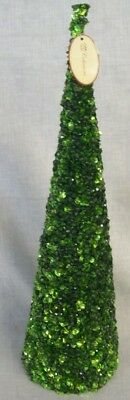"""NEW Green Bead and Sequin CHRISTMAS TREE  18"""" Tall TII Collections"""