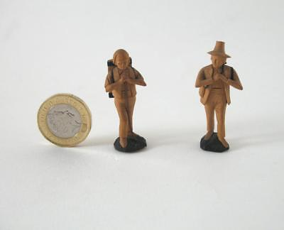 2 German / Austrian Finely Carved Miniature Wooden Figures