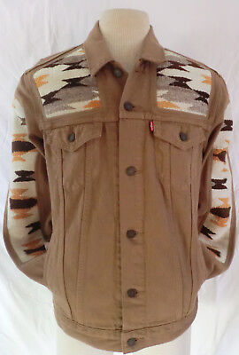 Navajo one of a kind Customized Levis Denim Jacket / Mens Large