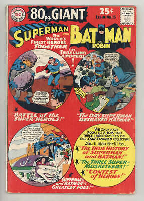October 1965 80 PAGE GIANT #15 SUPERMAN & BATMAN. Their true history & much more